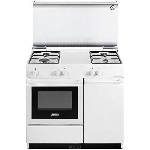 De Longhi SEW 8540 NED Linea Smart - Cucina a gas con forno elettrico, 4 Fuochi, Dimensioni 86x50 cm, Classe B