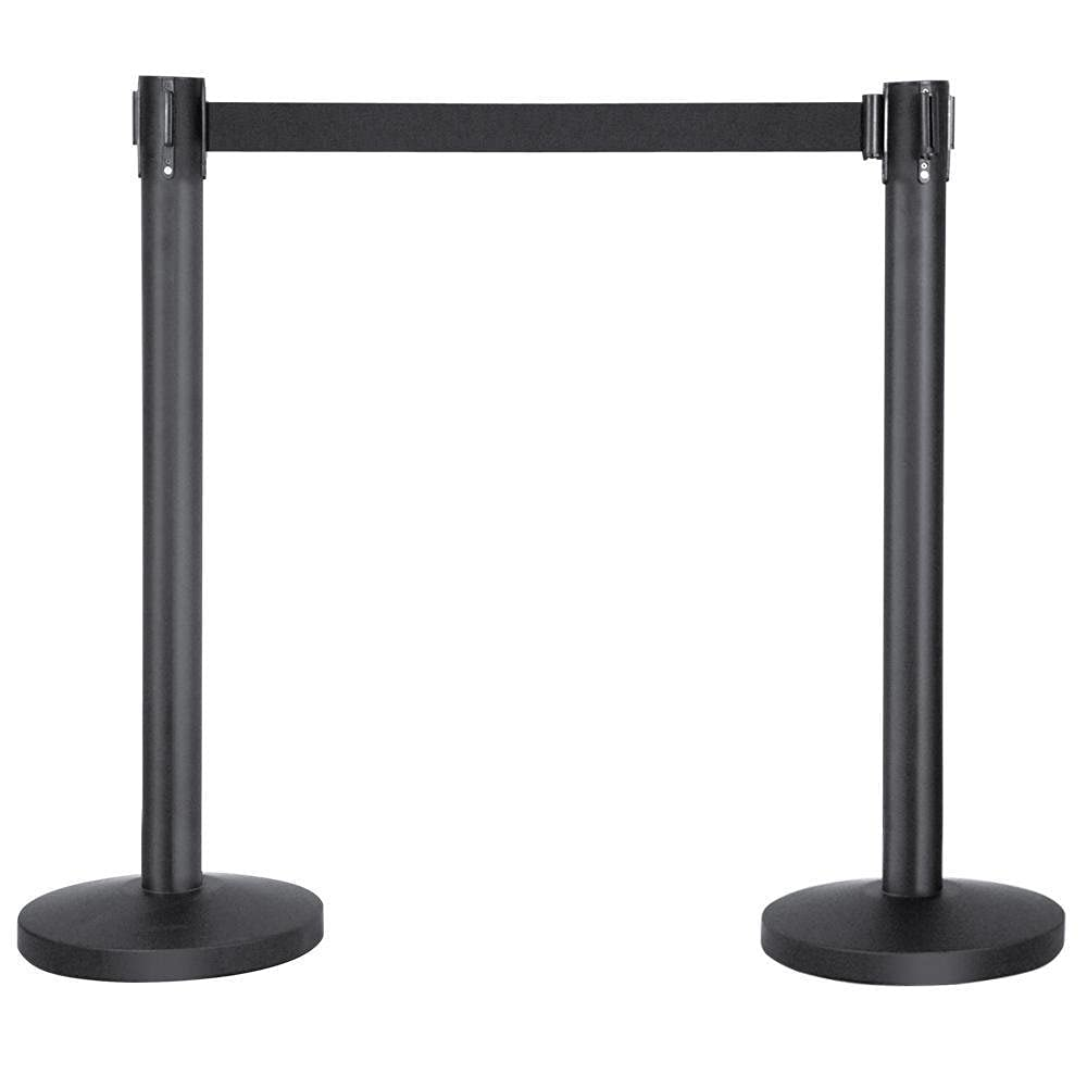 Cheap mail order specialty store Black Retractable Belt Crowd Boston Mall Control Queue Stanchion Barrie Line