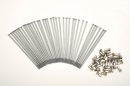 Kit 40 rayons et Nipples diamètre 4,0 mm longueur 170 mm droites