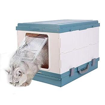 BingoPaw Bac a Litière pour Chats Grande Taille, Maison de Toilette Chat Fermé, 53.5x40x15cm avec Pelle à litière