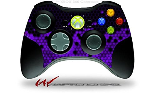 XBOX 360 Wireless Controller Decal Style Skin - HEX Purple (CONTROLLER NOT INCLUDED)