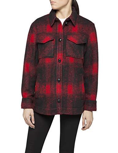 Replay Damen W7536 .000.52202 Jacke, Mehrfarbig (Black/Red Checked 10), Medium (Herstellergröße: M)