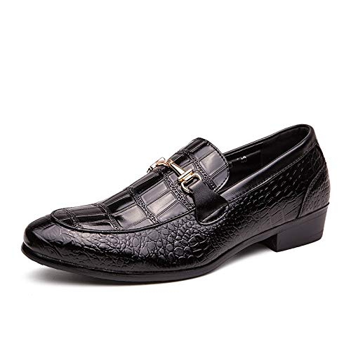 Jingkeke Oxfords da Uomo a Punta for Il Tempo Libero for Uomo Scarpe Basse Mocassini Casual Slip-on in Rilievo in Pelle Sintetica Leggera Tacco Largo Eye-Catching Moda