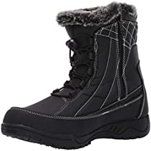 Totes Womens Cold Weather Boots with Lace-Up & Zipper Closures (Barbara) Waterproof Insulated Winter Boots for Comfort - Keeps Feet Warm & Dry