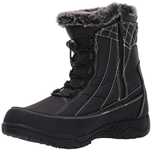 totes Women's Barbara Snow Boot, Black, 8