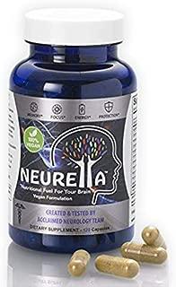 Neurella Extra Strength Vegan Brain Supplement – Powerful Brain Food & Memory Booster. Improve Focus, Clarity & Energy. Mental Performance Nootropic – Nutritional Vegetarian Brain Fuel.
