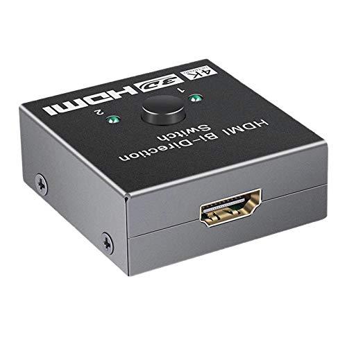 MERIGLARE Conmutador HD 3D Switch 2 Puertos Splitter Hub 2 Puertos 1x2 / 2x1 para