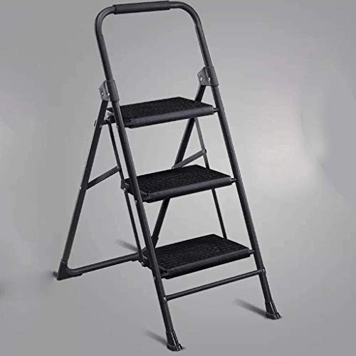 WYKDL Rango de Trabajo escalera con plataforma plegable del hogar taburete de paso ancho pedal robusto Escalera del Mango antideslizante Escalera del taburete plegable del hogar engrosamiento de escal
