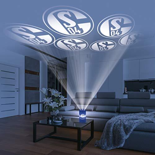 Schalke 04 Men's LED-Echtwachskerze Projektor, Blau, 15