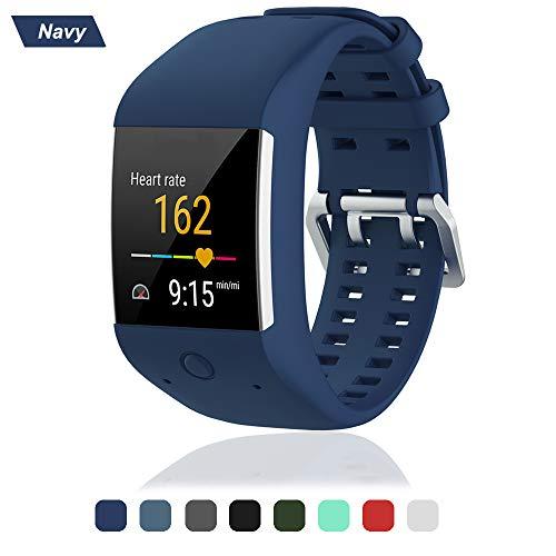 Armband für Polar M600 Watch, Silikon Ersatz Handgelenk Uhrenarmband Smartwatch Zubehör Ersatzarmband Fitness Sport Uhrband Wechselarmband für Polar M600 Uhr Gurt (Navy)