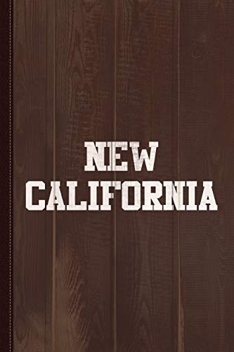 New California Journal Notebook: Blank Lined Ruled For Writing 6x9 110 Pages