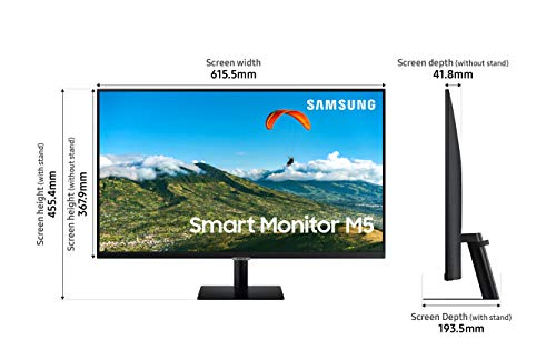 Samsung 27 inch M5 Smart Monitor with Netflix, YouTube, Prime Video and Apple TV Streaming (LS27AM500NWXXL, Black) 3