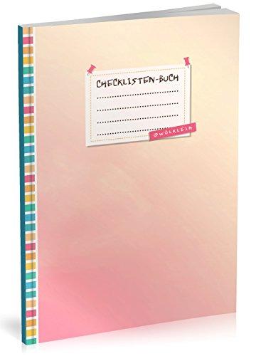 """Checklisten-Buch: To Do Listen Planer   Ca. A5 Softcover   70+ Seiten mit Titel, Datum & Register   Perfekt für Aufgaben zum Abhaken, Leselisten, Packlisten uvm.   Motiv """"Rosa Himmel"""""""