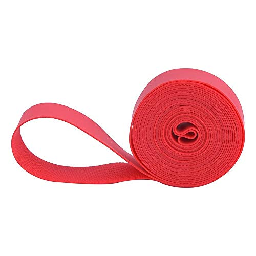 BOLANY Rim Strip Mountain Bike Tire Liner, Bicycle Inner Tube Protection Pad Puncture Proof Belt Bicycle Tire Protector Suitable for 26/27.5/29Inch or 700C Red (26)