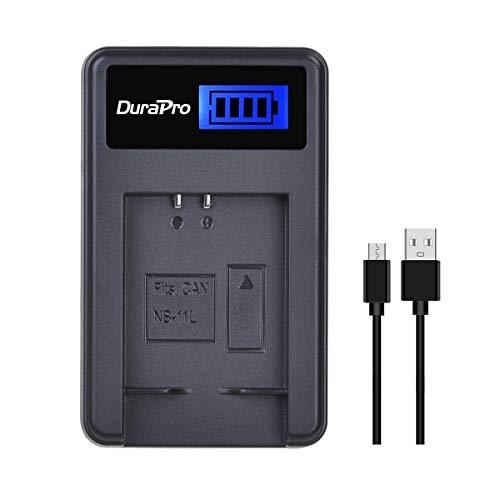 DuraPro Rapid - Cargador USB LCD para Canon NB-11L/NB-11LH (repuesto para batería Canon PowerShot A2300 IS, A2400 IS, A2500, A2600, A3400 IS, A3500 IS, A4000 IS, ELPH 110 HS, ELPH 115 HS