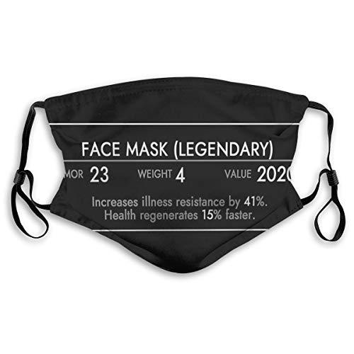 Wuyouhua Yiayatee Skyrim Face Waschbare Mode Staubdicht Reitgesichtstuch, Verstellbare Hängeohren S
