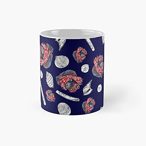 Marine Life of Saint Laurence River Pattern Classic Mug | Best Gift Funny Coffee Mugs 11 Oz