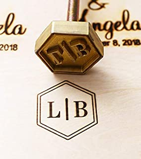 Custom Logo Wood Branding Iron,Durable Leather Branding Iron Stamp,BBQ Heat Stamp Including The Handle (2x2