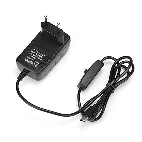 Adaptador de corriente, 5V / 3A 100-240V Type-C Interface 1.0m / 3.3ft, Carga rápida y transmisión estable, con interruptor de encendido / apagado, Cable adaptador para Raspberry Pi 4 Modelo B(EU)