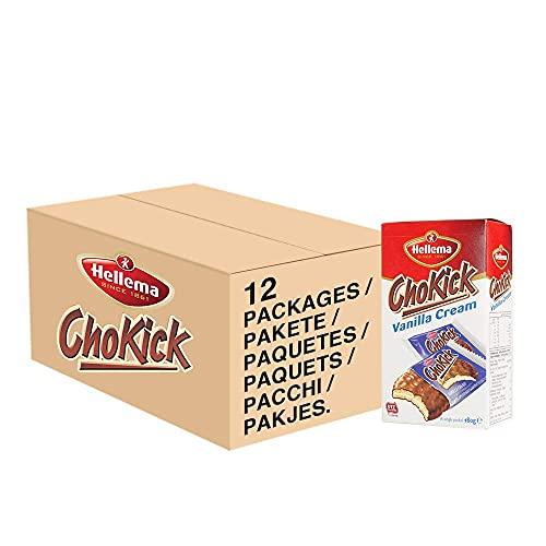 Hellema ChoKick Vanilla Cream Cookies Vanille Creme Koekjes – Biscuits Gevuld met een Creme met Vanillesmaaken Omhuld…