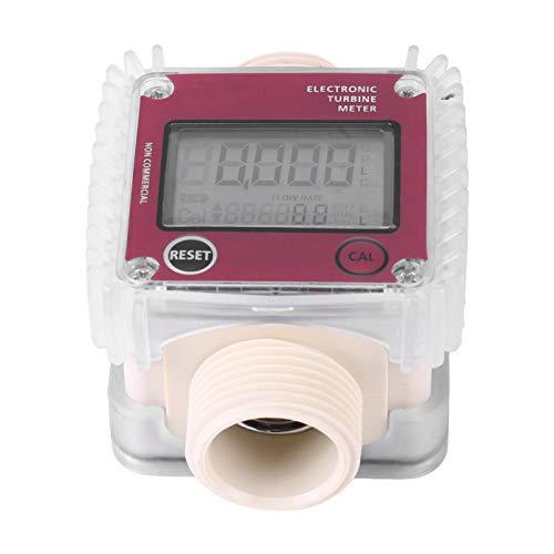 Turbine Meter 1pc K24 Turbine Digital Diesel Oil Fuel Flow Meter Gauge Digital Industry for Chemicals Liquid Water Laboratory