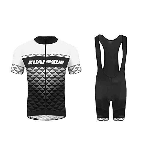 Uglyfrog Completo MTB Uomo, Estivo Maglietta Ciclismo Maniche Corte e Pantaloncini MTB con Cuscino Traspirante XSNL01F