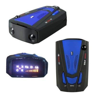 ExcLent Ykt - Détecteur De Radar Haute Performance pour Voitures Fd013 V7 - Bleu
