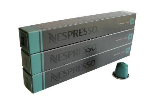 Nespresso Kapseln grün 30 Kaffeekapseln 3 x 10 Kapseln Fortissio Lungo