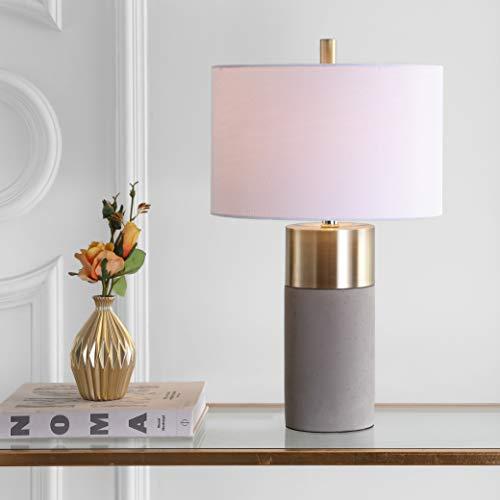 Safavieh LIT4452A-SET2 Lighting Collection Oliver Grey Table Lamp
