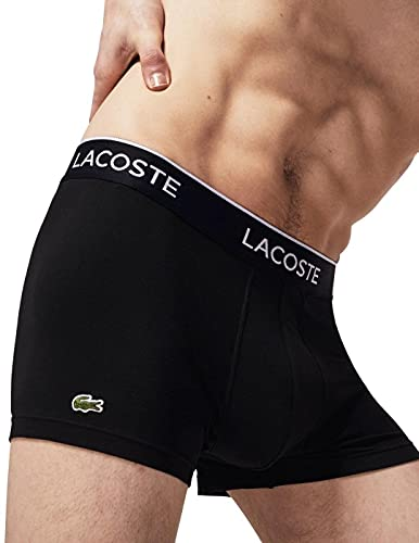 Lacoste Herren 5H3389 Boxershorts, Black, M (3er Pack)