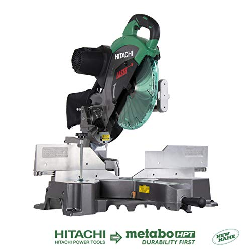 Our #5 Pick is the Hitachi C12RSH2 15-Amp 12-Inch Dual Bevel Sliding Compound Miter Saw with Laser Marker