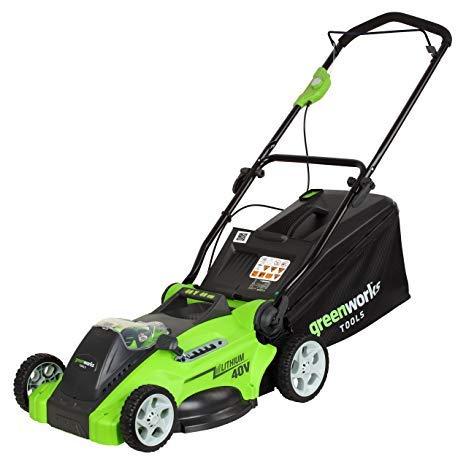 Greenworks Tools 40V Batterie de Tondeuse à Gazon 45cm (sans batterie et...