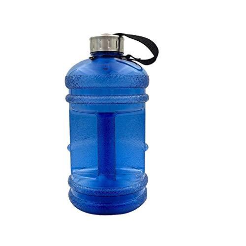 Romote Sport Trinkflasche Drink Flasche 2.2L große Kapazitäts Hantel Cup Fitness Bucket Cup Außensportflasche