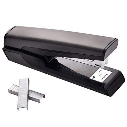 YCYG Agrapheuse – capaciteit van 20 vellen. Metalen koffer, antislip onderkant van zacht rubber, gemakkelijk te nieten, bestelnummer < 20 vellen, voor nietjes 24/6, 26/6 – zwart
