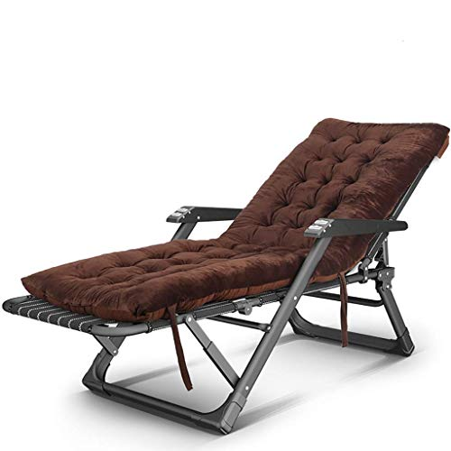 COLOM Lounge Chair Reclining Outdoor Folding Chairs Folding Textilee Reclining Chair Garden Sun Lounger Beach Recliner Adjustable Zero Gravity Outdoor Portable Folding (Color : Brown)
