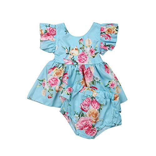 Babykleertjes bloemen gedrukt katoenen baby systemen vliegen met korte mouwen shorts 2Pcs Top Teams