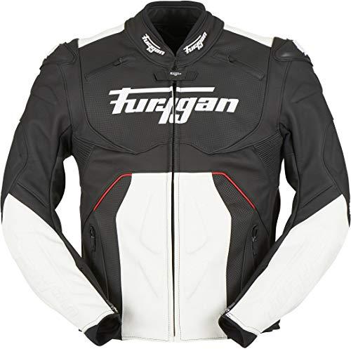 Furygan Raptor Evo Motorrad Lederjacke Schwarz/Weiß/Rot M