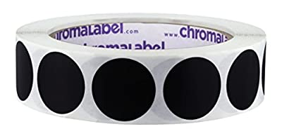 ChromaLabel 1 Inch Round Removable Color-Code Dot Stickers, 1000 per Roll