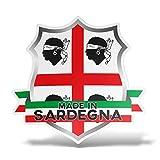 erreinge Sticker Sardegna Italia Adesivo Sagomato in PVC per Decalcomania Parete Murale Auto Moto Casco Camper Laptop - cm 10