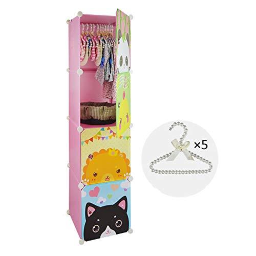 FPigSHS Roze Huisdier Kledingkast Multi-functie Huisdier Hond Kleine Garderobe Kat Hanger Kabinet Meubilair Huisdier benodigdheden Vloerstaande Coat Rack, 37 * 37 * 145cm, roze