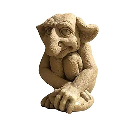 SANGKA Statua di Gnomo Gnomo da Giardino Figura Figure Nane da Giardino Decorazione Figurina da Giardino All'Aperto per Patio, Prato, Cortile Famous