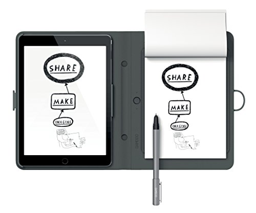 Wacom CDS-600C Bamboo Spark Digitalizzatore di Appunti su Carta per iPad Air 2 con Custodia per iPad Air2, Grigio