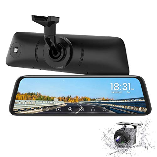 AUTO-VOX T9 Backup Camera for Truck,9.35''Stream Media Full Touch Screen with OEM Look 1080P Rear View Mirror Camera with 0.1 Lux Night Vision