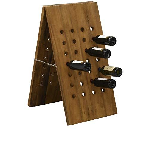 Porte-bouteille en bois recyclé (56 bouteilles)