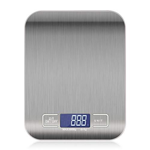 CYONGYOU Báscula de cocina de acero inoxidable herramienta de medición de alimentos LCD Báscula electrónica