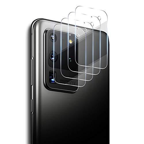 ELYCO [4 Stück] Samsung Galaxy S20 Ultra Kamera Panzerglas Schutzfolie, 9H Festigkeit 0.15mm Kamera Linse Panzerglasfolie Anti-Öl/Anti-Kratzen Kameraschutz für Samsung Galaxy S20 Ultra Kameraobjektiv