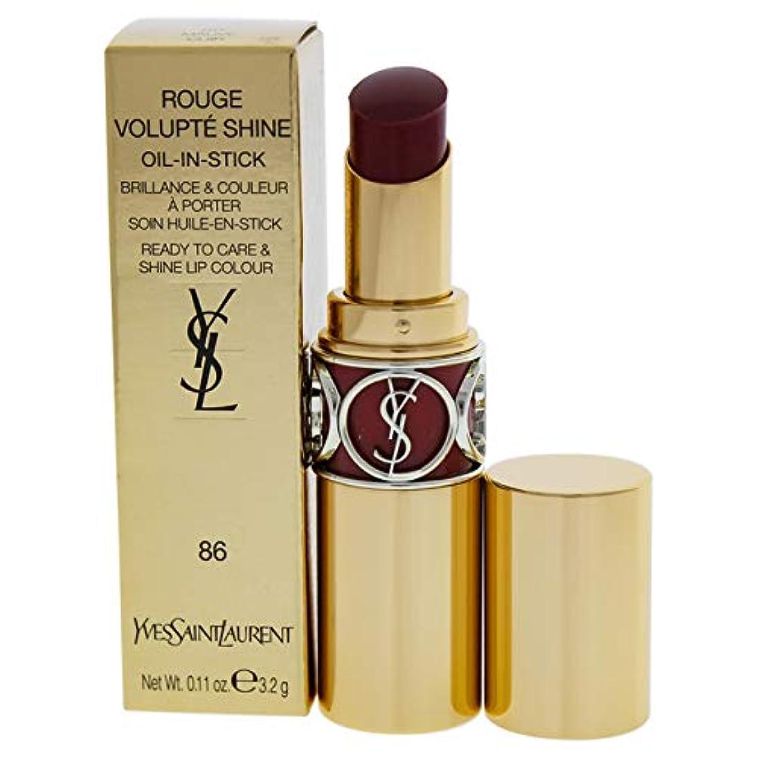 文庫本規範コントロールイヴサンローラン Rouge Volupte Shine - # 86 Mauve Cuir 4.5g/0.15oz並行輸入品