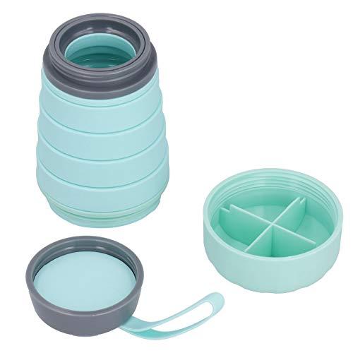 frenma Trinkflasche, zusammenklappbarer Wasserkocher, auslaufsicher, multifunktional für Home-Office-Reisen(Green)