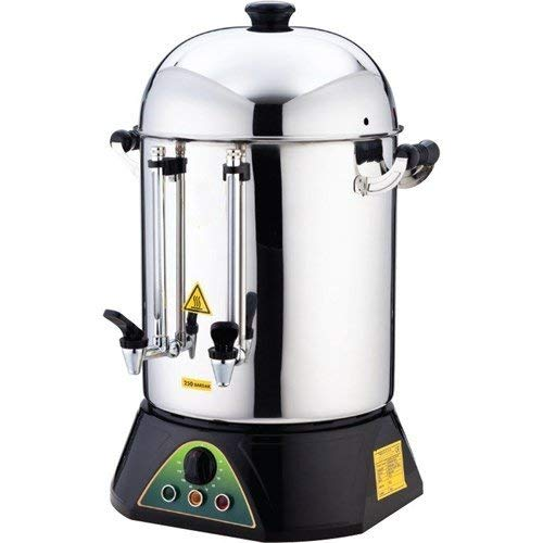 TEMP CONTROL LARGE 250 CUP STORAGE Restaurant Cafe Catering STAINLESS STEEL Double Compartment industrial Commercial Hot Water Tea Coffee Maker Brewer Brewing Machine Urn Percolator Dispenser 220V