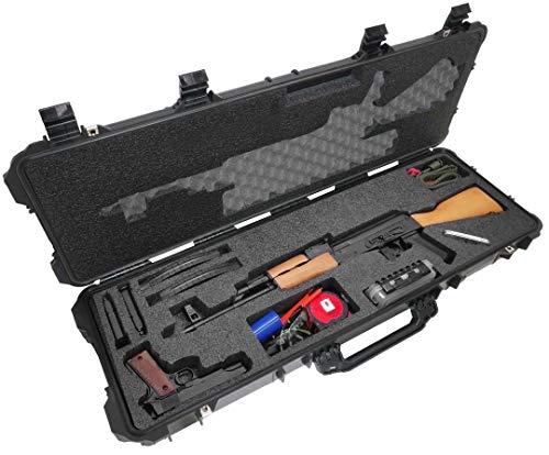 Case Club AK-47 Pre-Cut Waterproof Rifle Case with Accessory...